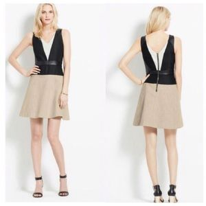 Ann Taylor Dresses - Ann Taylor Faux Leather Fit & Flare Dress NWT
